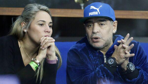 Diego Maradona et Rocio Oliva (photo d'archives) - Sputnik France