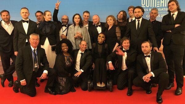L'équipe de «Give me liberty» a l'issue de la projection lors de la Quinzaine des réalisateurs en 2019 - Sputnik France