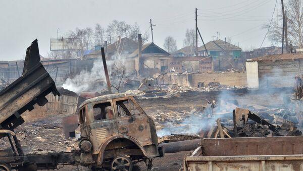 Les conséquences d'incendies en République autonome de Khakassie, le 16 avril 2015 - Sputnik France