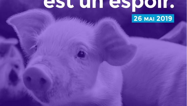Affiche Parti animaliste - Sputnik France