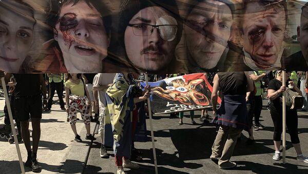 La marche des Gilets jaunes blessés à Paris - Sputnik France
