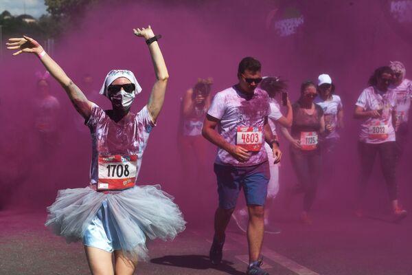 Course à pied multicolore de Moscou - Sputnik France