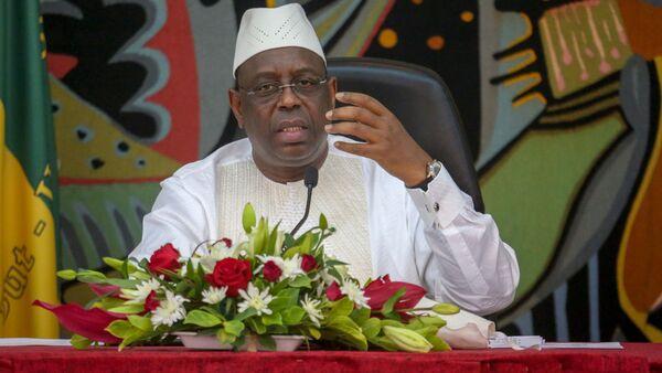 Macky Sall, Président du Sénégal, à la cérémonie du dialogue national le 28 mai 2019 à Dakar. - Sputnik France