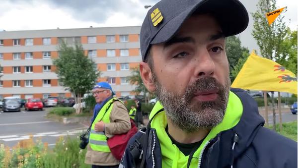 Jérôme Rodrigues lors de l'acte 30 des Gilets jaunes à Paris - Sputnik France