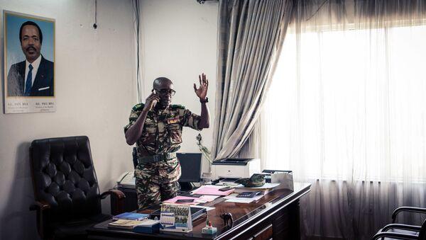 Général Donatien Nouma Melingui, en charge des opérations militaires dans la région anglophone de Sud-Ouest du Cameroun, en proie du conflit social et armé depuis 2016 - Sputnik France