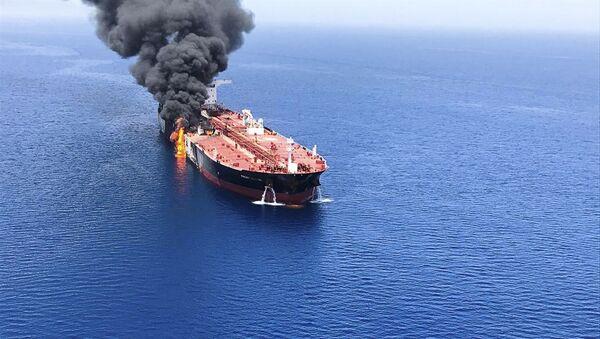 Deux pétroliers dans le golfe d'Oman - Sputnik France