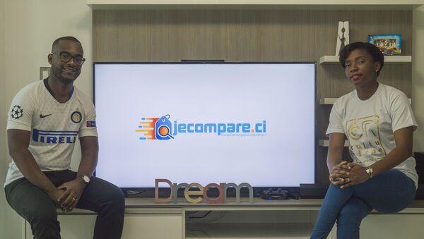 Clovis et Laetitia Djirebo, les cofondateurs de Jecompare.ci. - Sputnik France