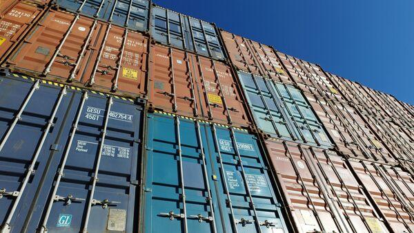 Des conteneurs dans un port. - Sputnik France