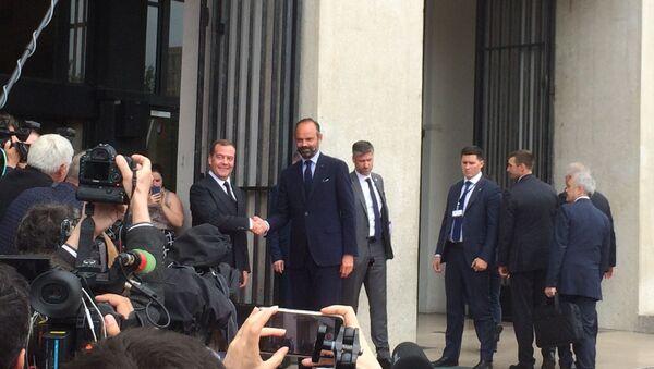 Édouard Philippe et Dmitri Medvedev au Havre - Sputnik France