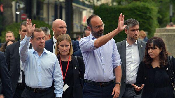 Rencontre de Dmitri Medvedev avec Édouard Philippe en France - Sputnik France