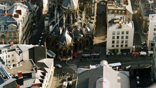 Вид с самолета на город Нант. - Sputnik France