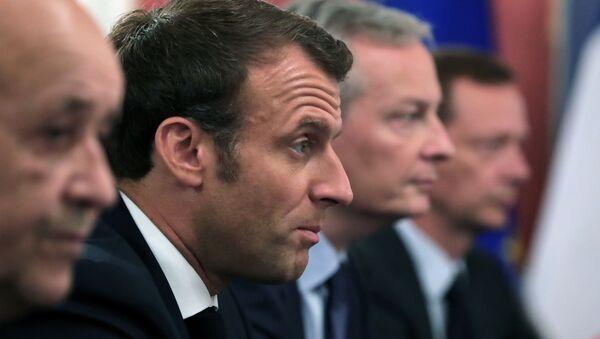 Emmanuel Macron à Osaka - Sputnik France