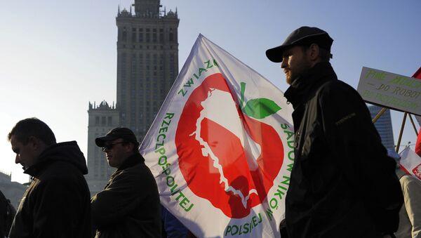 Protestation de fermiers polonais, archives - Sputnik France