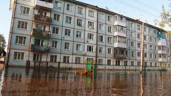 La zone inondée dans la région d'Irkoutsk (juin 2019) - Sputnik France