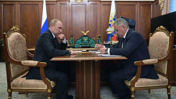 Vladimir Poutine et Sergueï Choïgou - Sputnik France