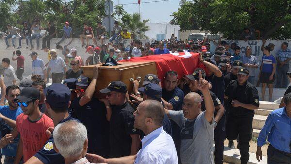 Funérailles du policier tué à Tunis le 27 juin 2019 - Sputnik France