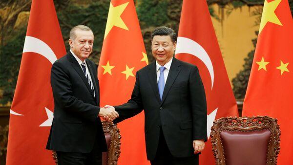Recep Tayyip Erdogan et Xi Jinping (archive photo) - Sputnik France