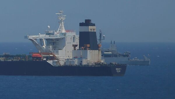 El buque petrolero detenido en Gibraltar - Sputnik France