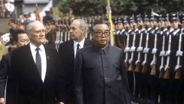 Kim Il-sung lors de sa visite en URSS - Sputnik France