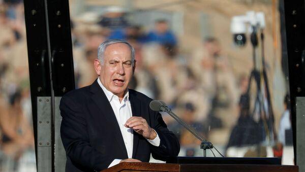 Benjamin Netanyahou en visite à la base aérienne de Hatzerim (archive photo) - Sputnik France