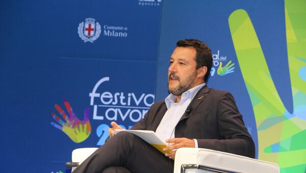 Matteo Salvini al Festival del Lavoro - Sputnik France