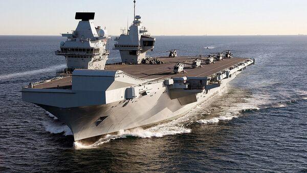 Porte-avions britannique HMS Queen Elizabeth (archive photo) - Sputnik France