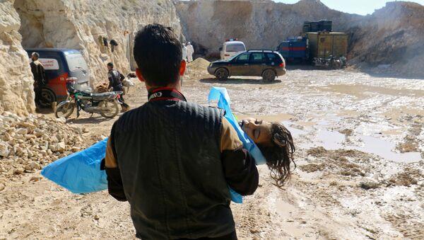 La ville de Khan Cheikhoun, dans le gouvernorat d'Idlib, après l'attaque d'avril 2017 - Sputnik France