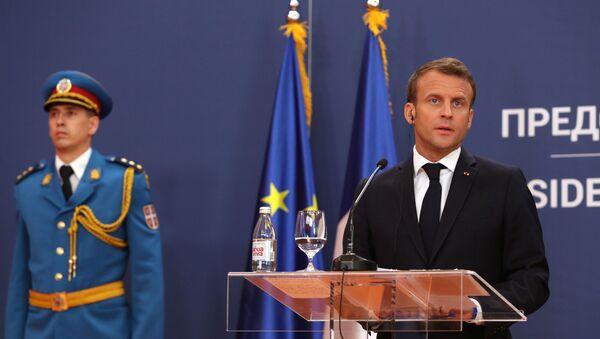 Emmanuel Macron en Serbie - Sputnik France