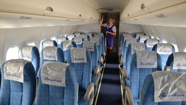 Un Sukhoi Superjet 100 de la compagnie aérienne Yakutia Airlines - Sputnik France