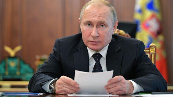 Президент РФ В. Путин провел совещание по экономическим вопросам - Sputnik France