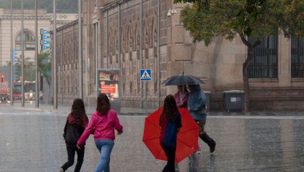 Une pluie à Barcelone (archive photo) - Sputnik France