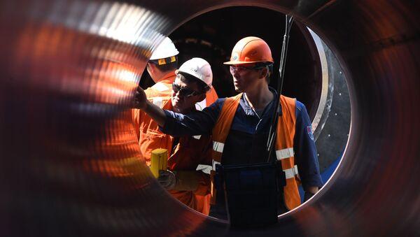 Construction du pipeline Nord Stream 2 - Sputnik France