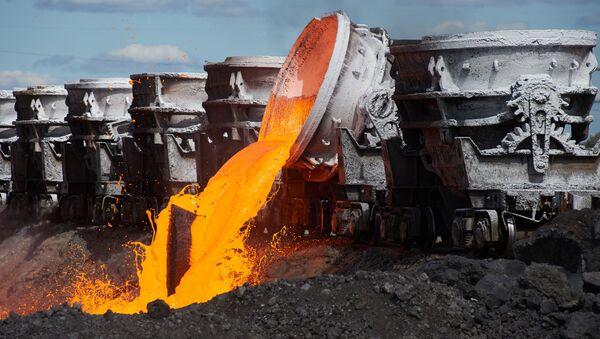 Déversement de déchets à l'usine métallurgique de Tchérépovets - Sputnik France