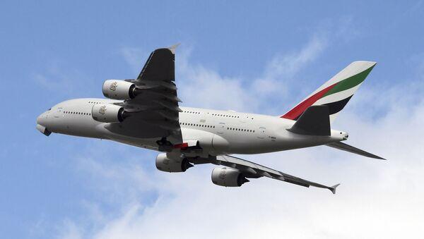 Un Airbus A380 de la compagnie aérienne Emirates - Sputnik France