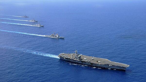Des navires miliaires US en mer de Chine méridionale (photo d'archives) - Sputnik France