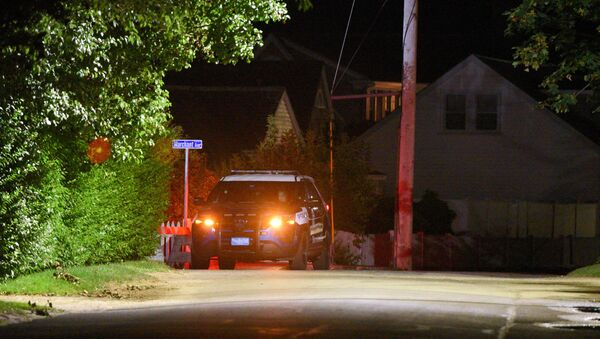 A Barnstable Police cruiser sits at the top of Marchant Avenue as police investigate the death of Saoirse Kennedy Hill, the granddaughter of the late Robert F. Kennedy, at the Kennedy Compound in Hyannis Port, Massachusetts, U.S., August 1, 2019. - Sputnik France