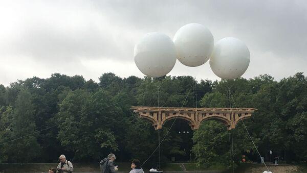 Pont volant créé par Olivier Grossetête à Moscou (août 2019) - Sputnik France
