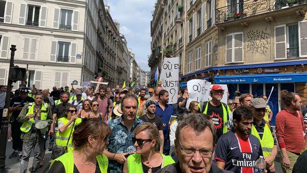 Acte 38 des Gilets jaunes à Paris, 3 août 2019 - Sputnik France