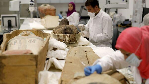 L'Égypte présente un sarcophage de Toutânkhamon en restauration - Sputnik France