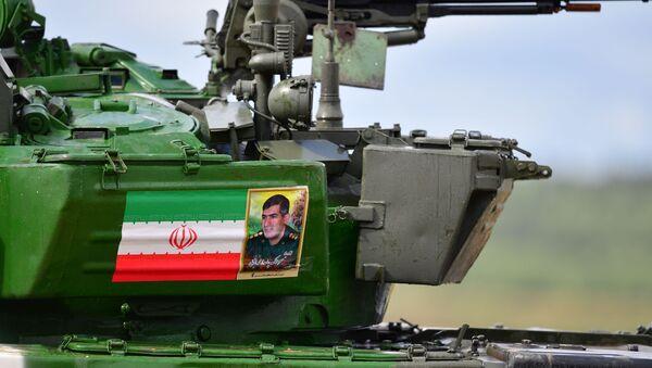 Le T-72B3 iranien participant au biathlon des chars de combat aux Jeux militaires ArMI 2019 - Sputnik France