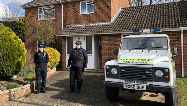 Police devant le domicile des Skripal à Salisbury - Sputnik France