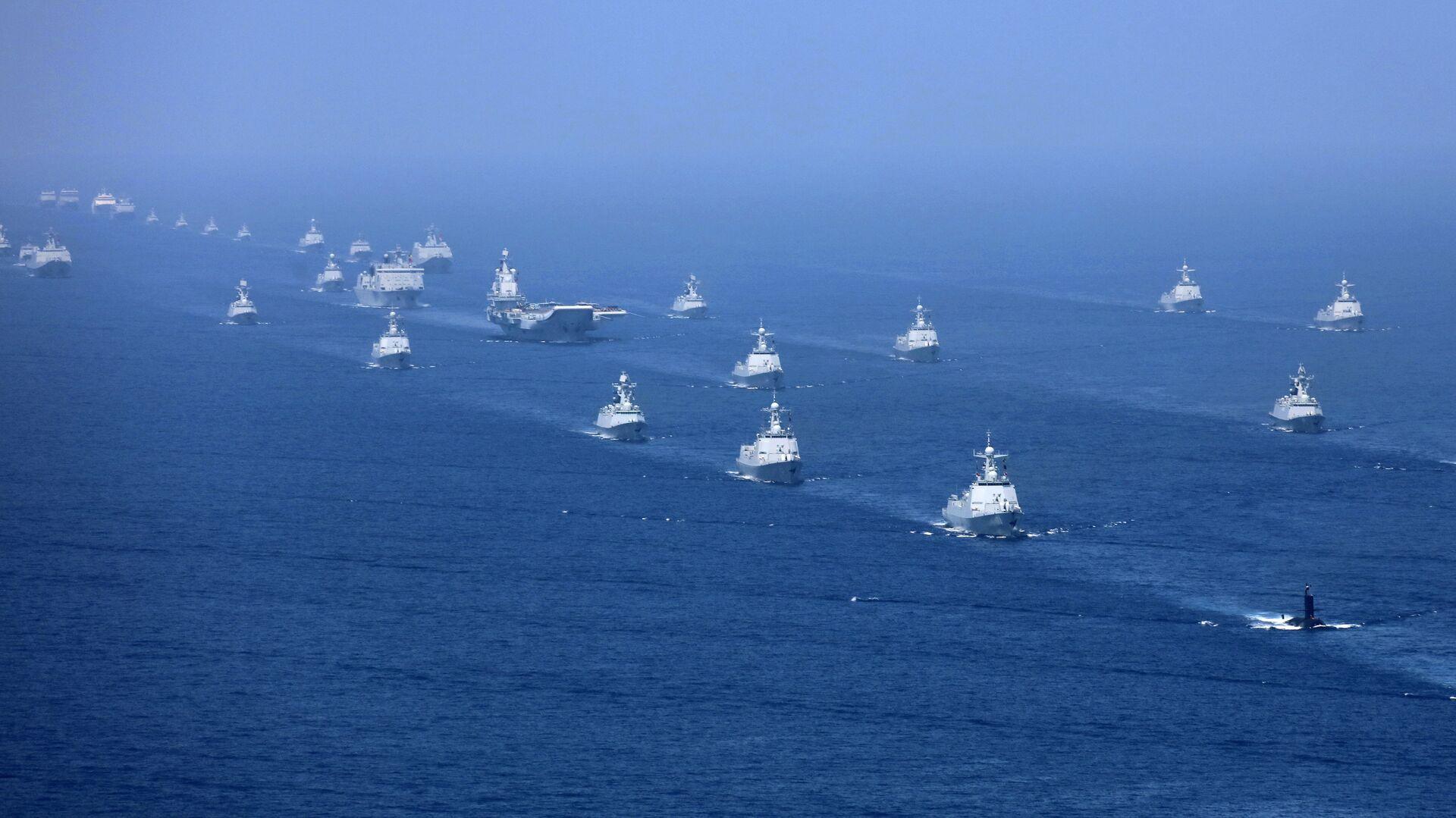 Exercices militaires de la marine chinoise en 2018. (Xinhua News Agency) - Sputnik France, 1920, 14.05.2021