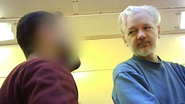Julian Assange dans la prison de Belmarsh à Londres (archive photo) - Sputnik France