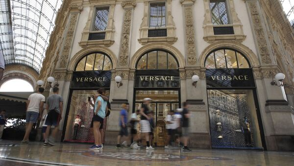 A view of the Versace fashion brand shop at the galleria Vittorio Emanuele II, in Milan, Italy, Thursday, Aug. 1, 2019.  - Sputnik France