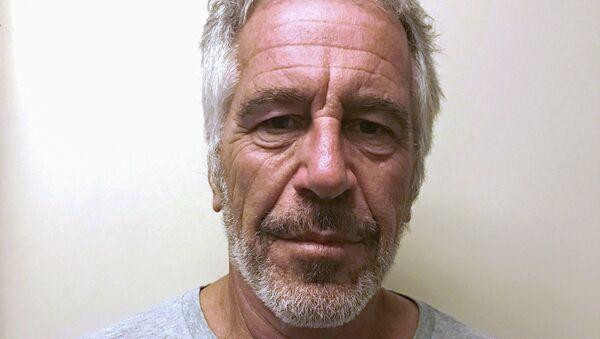 US financier Jeffrey Epstein appears in a photograph taken for the New York State Division of Criminal Justice Services' sex offender registry  - Sputnik France