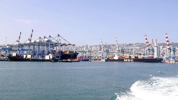 Порт Хайфа в Израиле - Sputnik France