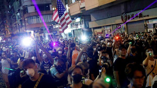 Des manifestants à Hong Kong, le 14 août 2019 - Sputnik France