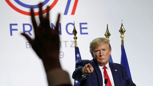 Donald Trump lors d'une conférence de presse au sommet du G7 à Biarritz - Sputnik France