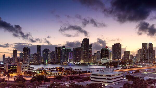 Miami, Florida, skyline, sunset - Sputnik France