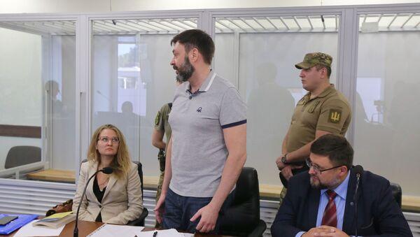 Le journaliste Kirill Vychinski lors d'une séance de la cour d'appel de Kiev - Sputnik France